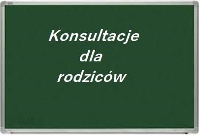 napis komunikatu konsultacje